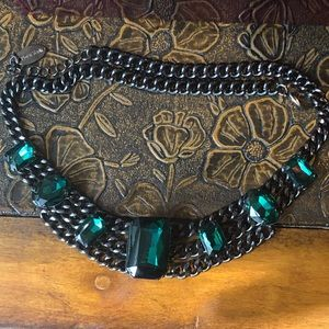 EUC Emerald Color Heavy Necklace  (worn once)